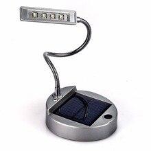 Heißer Batteriebetriebene Tischlampe Flexible Desktop Leselampe 4 FÜHRTE  Schreibtischlampe Solar Power Licht Flexible Schwanenhals Stil(