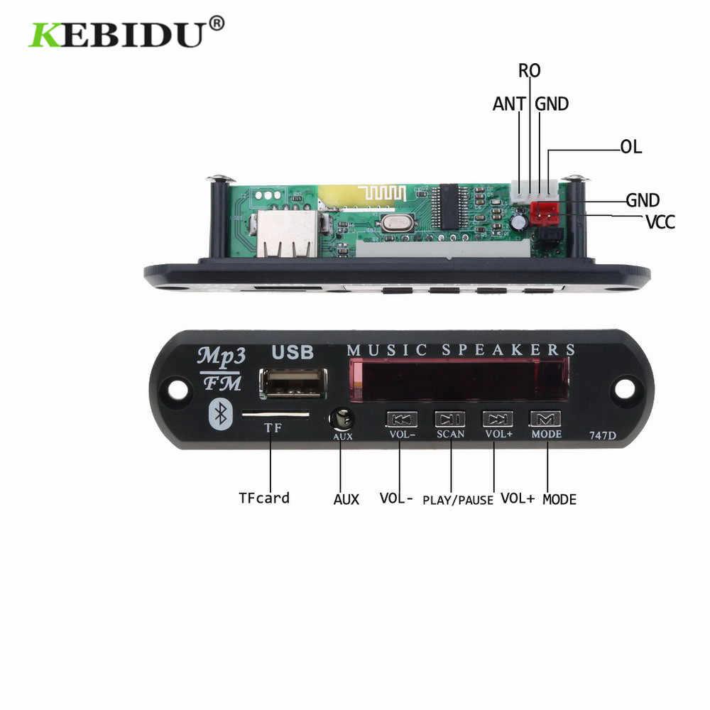 KEBIDU Bluetooth レシーバー MP3 プレーヤーデコーダボード FM ラジオの TF USB 3.5 ミリメートル AUX モジュールオーディオ iphone 8 XS シャオ mi mi