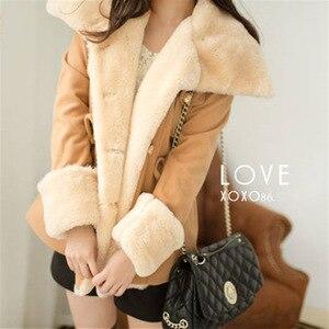 Image 3 - Fast Shipping  Winter Warm Coats Women Wool Slim Double Breasted Wool Coat Winter Jacket Women Fur Women S Coat Jackets