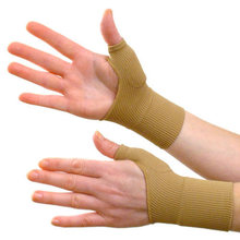 1 Pair Beige Color Arthritis Gloves Medical Wrist Thumbs Hands Splint Support Brace Stabiliser Arthritis #84843(China)