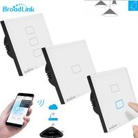 EU Standard Broadlink TC2 1 2 3 Gang Wifi Wall Light Touch Screen Switch Wireless Remote