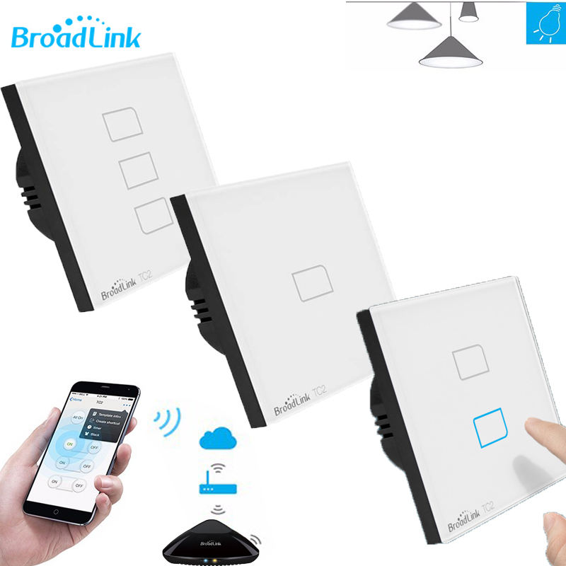 Broadlink TC2 Standard de L'UE 1/2/3 gang, mobile À Distance lumière lampes mur wifi Commutateur par broadlink rm pro + pro33, maison intelligente domotica