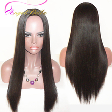 Angelbella Lace Wigs Straight Virgin Hair Human Hair Wig 8-26 Inches 150 Density Brazilian Lace Front Wigs Natural Hairline