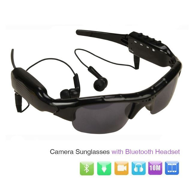SM07 HD 1080P Camera Mini DV Camcorder Sunglasses Video Recorder w/ Bluetooth Headphones Stero Music Player Mini Camera Glasses