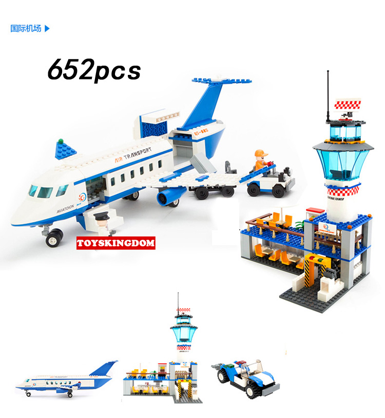 City international airport building block Boeing jumbo 747 plane model passenger figures airplane brick educational toys for kid gudi block city large passenger plane airplane block 856 pcs bricks assembly boys building blocks educational toys for children