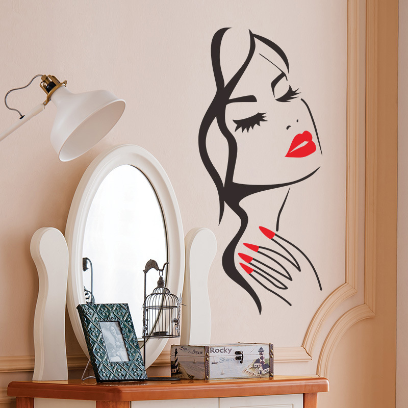 Dream home 33024 girls personality wall stickers living room bedroom TV background window decoration
