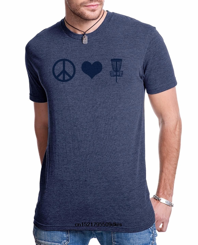 45e32c97 Men T shirt Disc golf tshirts funny peace love disc golf graphic outdoor  sports tshirts comfortable summer shirt women