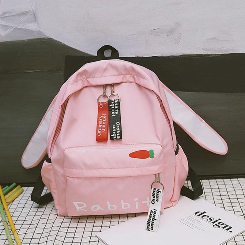 Harajuku Ulzzang Cute 3d Long Ears Rabbit Cartoon Cat Brown Bear Backpack Women Small Schoolbag For Girls Travel Shoulder Bags
