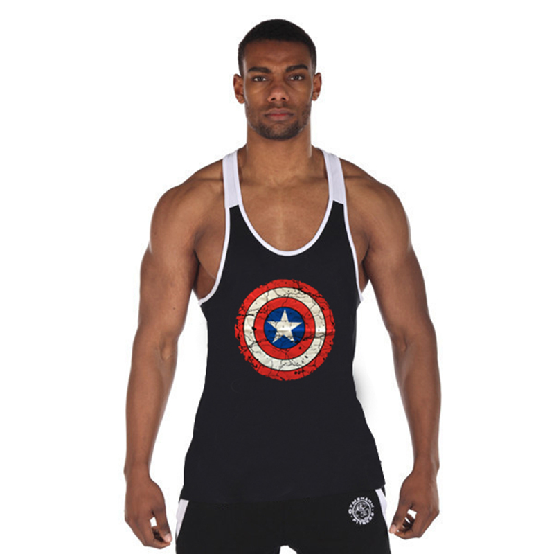 New Men's Vivid Workout Tank Tops Low Cut Armholes Vest Sexy Fitted Men's Tank Men Fitness Tees Muscle Men Activewears