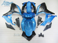 Custom Injection Fairing set for SUZUKI 06 07 K6 GSXR 600 750 sports fairings kit GSXR750 2006 2007 GSXR600 blue black body kits