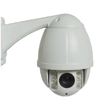 High Quality 1.3MP Weatherproof IP66 Mini CCTV PTZ IP Camera 10X Optical Zoom 50M IR White Dome Security Camera