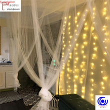 Decoration LED Icicle String Lights  3x1/3x2/4x2m Christmas Fairy Light garland Outdoor Home For Wedding/Party/Curtain/Garden