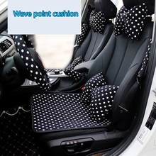 Black White Dot Car Leather Seat Cushion Interior Styling