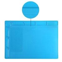 1pc Heat Resistant Insulation Silicone Mat Pad Multifunction Soldering Repair Tools Maintenance Platform Desk 35cm X