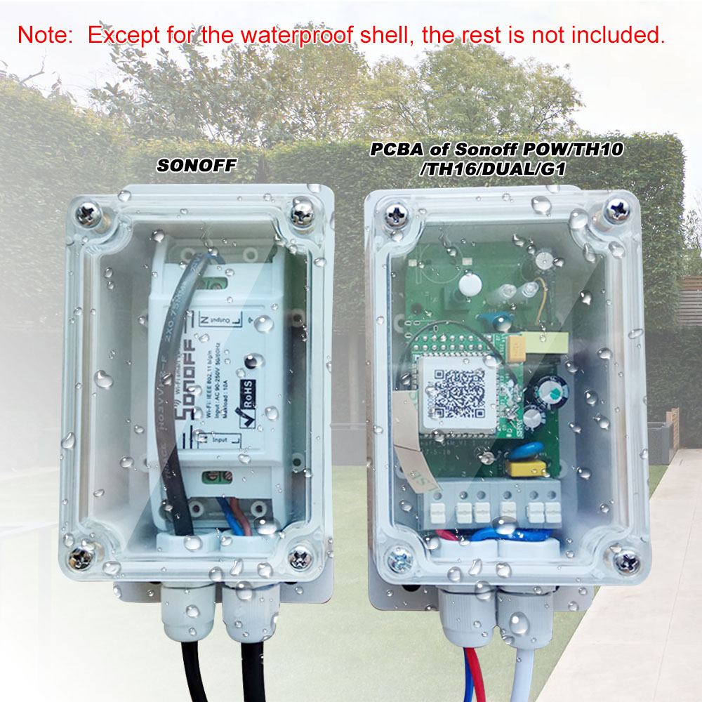 SONOFF IP66 Waterproof Junction Box Plastic Cable Wire Connector ...
