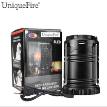 UniqueFire LED Flexing Solar Light Outdoor Portable Camping Lantern Rechargeable Emergency Waterproof LED Tent Light Solar Lamp