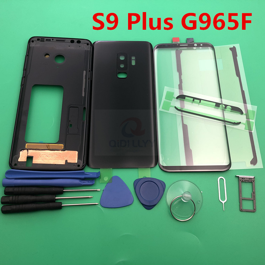 S9 Full Housing case for samsung Galaxy S9 Plus G965 G965F LCD display panel Middle frame