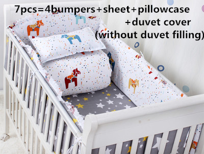 Promotion! 6/7PCS  Baby bed linen.crib bedding.100% cotton baby bedding crib set ,120*60/120*70cmPromotion! 6/7PCS  Baby bed linen.crib bedding.100% cotton baby bedding crib set ,120*60/120*70cm