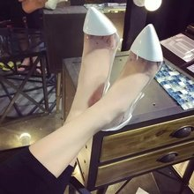 Women's High Heel Sandle See-Through pointed Toe Thin Heels High-Heeled Shoes Women Pumps Women's OL Office Work Career Shoes