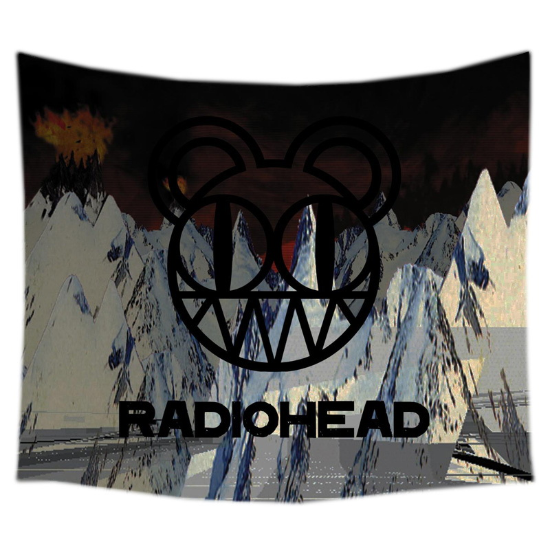 Radiohead Custom Tapestry Table Cloth Beach Blanket Home Decorative Wall Hanging Picnic Mat