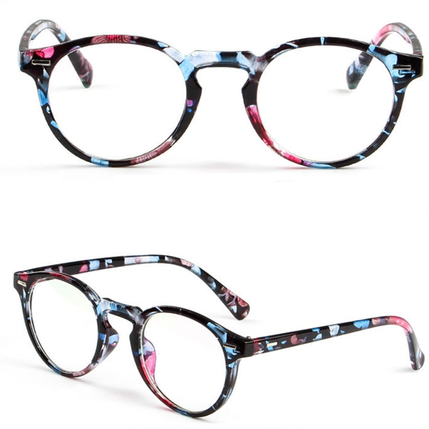 Trendy glasses optical print glasses frame clear glass brand transparent glasses women ultra-light eyeglasses frame