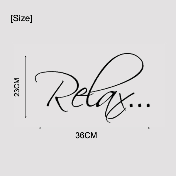 2pcslot bath tub relax bathroom relax vinyl wall quote decal wall art wall stickers wall decoration size 36x23cmin wall stickers from home u0026 garden on