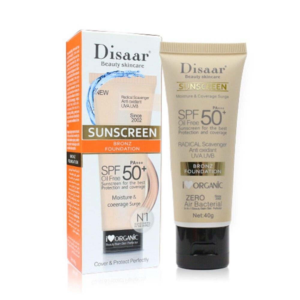 Disaar солнцезащитный крем для тела, отбеливающий крем от солнца, солнцезащитный крем для кожи, против старения, контроль жирности, увлажняющий крем SPF 90/50 TSLM1 - Цвет: 01