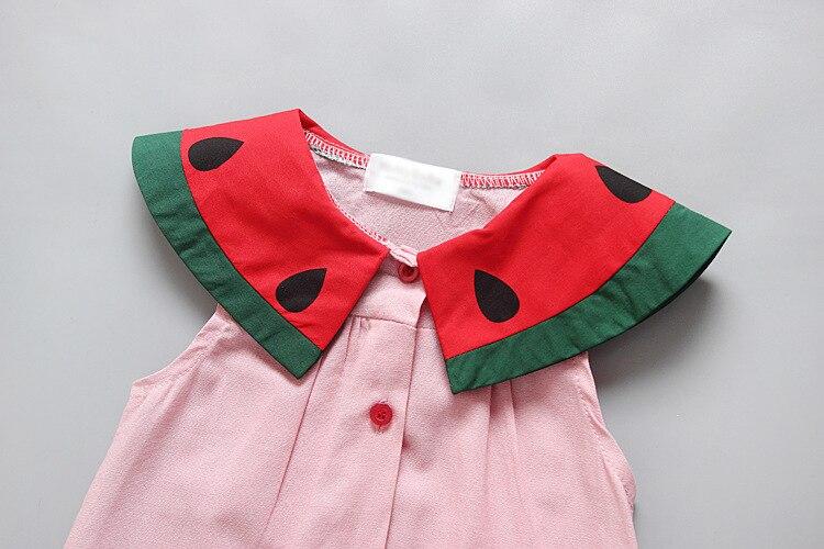 Baratos Sandía Bebé niñas de algodón de verano vestido de La ...