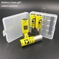 Alta qualidade 4 pcs 18650 listman 3000 mah da bateria recarregável para o caso presente caixa de cigarro eletrônico mod com bateria vs lg he4