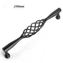 192mm Creative birdcage furniture handle black drawer kitchen cabinet dresser cupboard wardrobe door pulls handle large handle