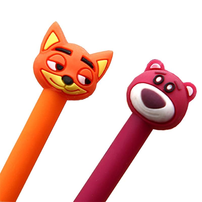 Kawaii Cartoon Animals Bear Fox Gel Pen Student Study Signing Pen School Office Writing Stationery Supplies Kids Gifts 1 Pcs