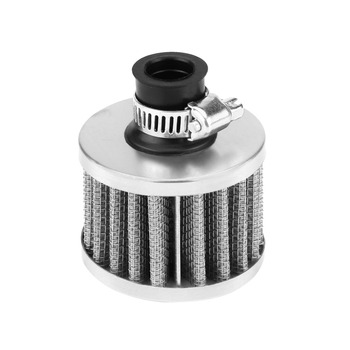 Universal 13mm Car Cold Air Intake Filter Kit Crankcase Vent Cover Breather Silver stable characteristics and high reliability image