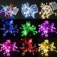 Na baterie AA 3M30leds LED świecący bajkowy łańcuch boże narodzenie Holiday Party dekoracja ślubna do ogrodu światła 9 kolory