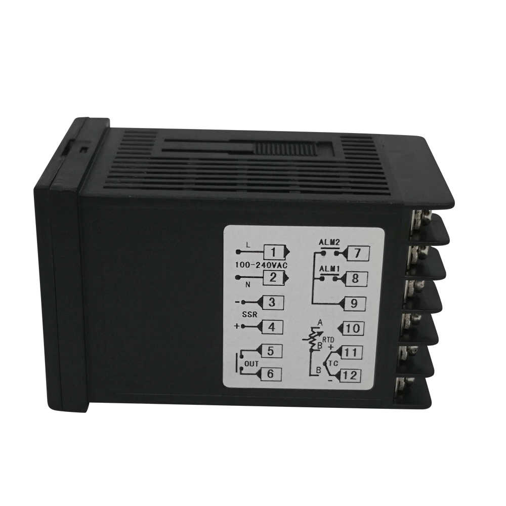 100 V-240 V pid régulateur de température numérique plage de température maximale 1372 degrés Celsius + radiateur + 2M K Thermocouple + Max 40A SSR