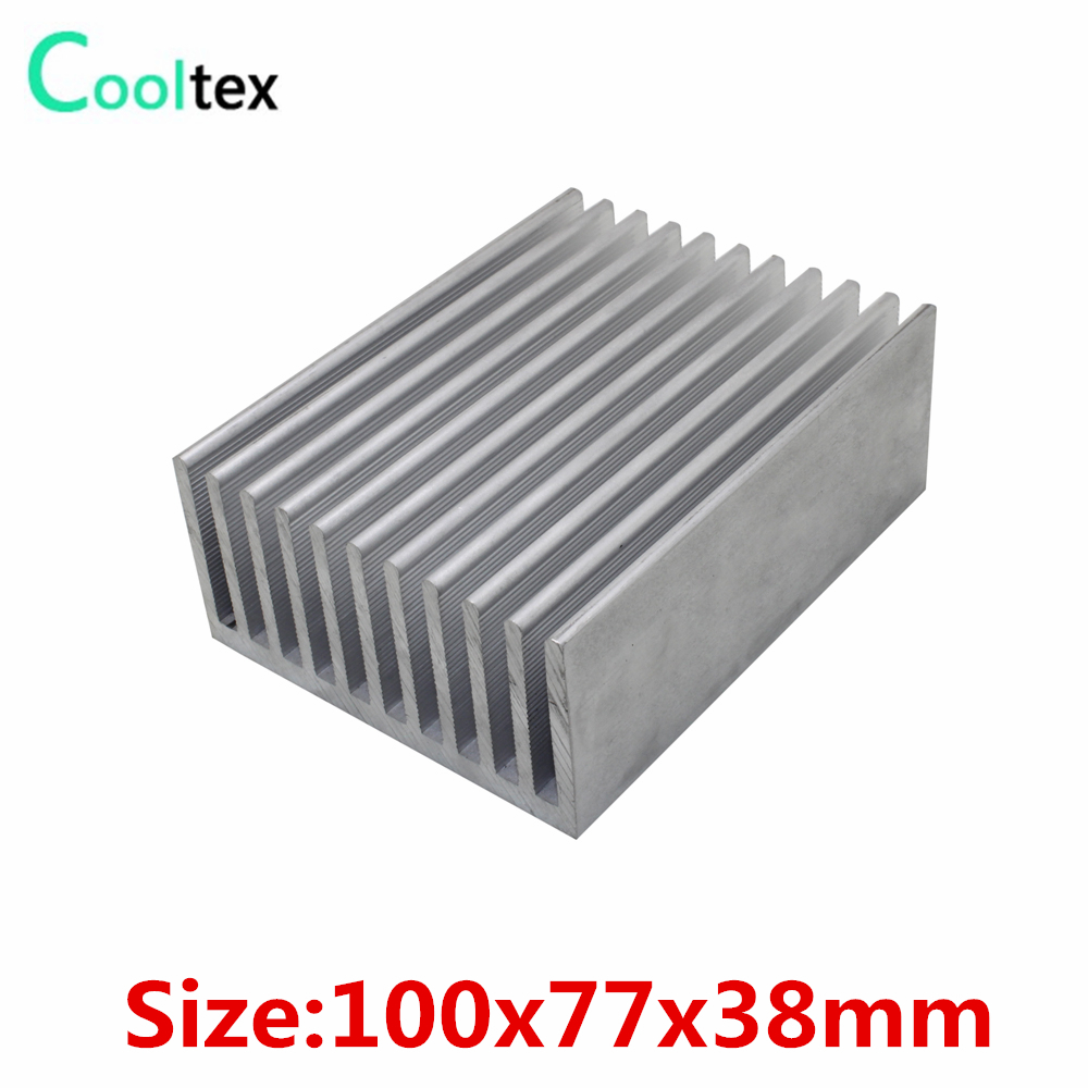 (High power) 100x77x38mm Extruded Aluminum Heat Sink heatsink radiator cooler for LED power amplifier Electronic cooling radiator aluminum cooler cooling heatsink extruded profile heat sink for computer pc chipset power ic electric device led light