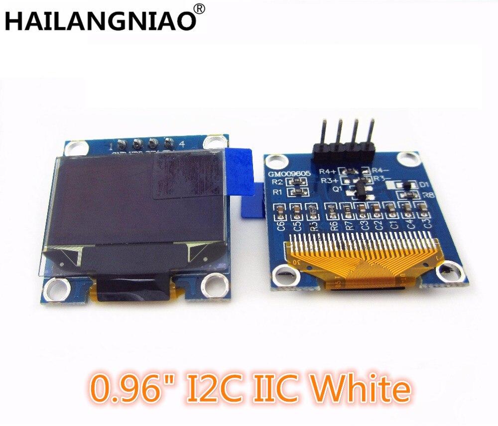 1Pcs 128X64 White OLED LCD LED Display Module 0.96 I2C IIC SPI Serial new original telesky 2 42 inch 128 x 64 oled display module spi serial for arduino