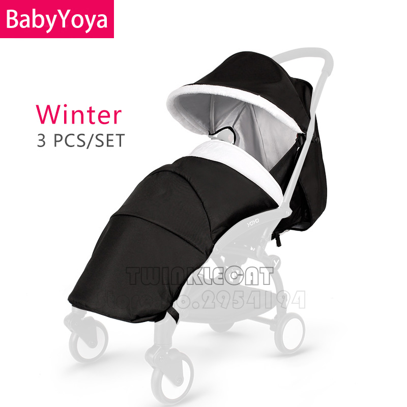 Baby YOYA YoYo 3Pcs /Set Winter Stroller Sun Canopy Visor Seat Cushion Leg Cover Footmuff Car Pram Hood Cap Accessories Shield baby stroller accessories for yoya yoyo babyzen sun shade cover seat infant pram cushion pad sunshade canopy buggies for babies