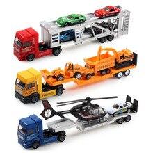3 pcs/lote métal et en plastique voiture camion de transport modèle jouets pour enfants cadeau d'anniversaire