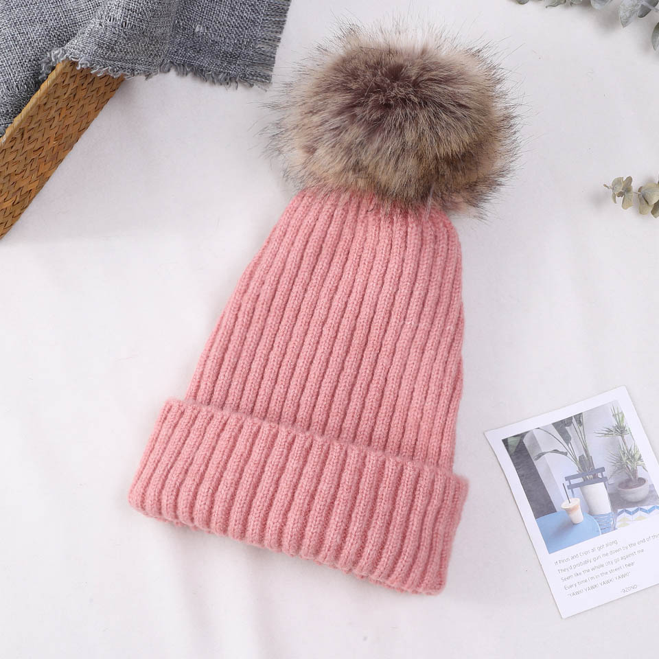 2018 Knitted Warm Winter Hats for Women   Beanies   High Quality Hat Female Thick   Skullies     Beanies   Cap for Ladies with Pom Pom