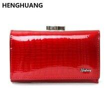 Купить с кэшбэком mini women wallets genuine leather short clutch wallet alligator pattern womens wallets and purses with card holder