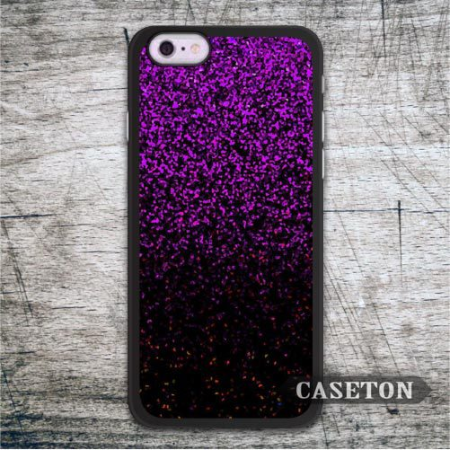 Black Purple Glitter Case For iPhone 7 6 6s Plus 5 5s SE 5c and For iPod 5 Classic High Quality Ultra Phone Cover