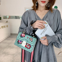 Sac A Main Femme De Marque Luxe Cuir 2019 Fashion Crossbody Bags For Women Vintage Embroidered Diamond Ladies Shoulder Bag