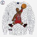 Mr.1991INC Divertidas camisetas de los hombres/de las mujeres hoodies divertido imprimir Número 23 personaje de dibujos animados en 3d 3d sudaderas