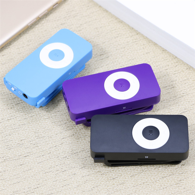 MP3 Player 3.5mm Stereo Jack Sport Mp3 Music Player with Hole for TF Card Mini Clip USB MP3 Player