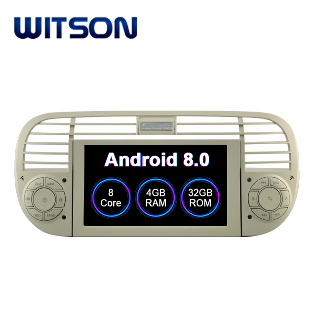 WITSON S200 Android 8.0 Octa core (Eight core) CAR DVD GPS For FIAT 500 (white version)  audio system car audio dvd for FIAT 500-in Car Multimedia Player from Automobiles & Motorcycles    1