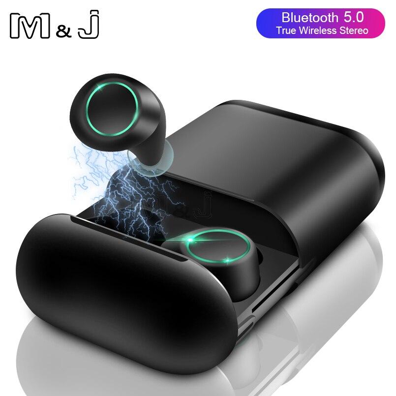 M&J Bluetooth 5.0 Headphones True Wireless Earphone TWS