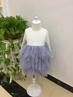 Retail 2018 Girls Summer Sweet Lace Princess Dress Girls Long Sleeve Dress Princess Costume RR012