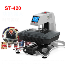 110V/220V ST-420 3D Sublimation Warmth Switch Printer 3D Vacuum Printer Machine for Instances Mugs T shirts Plates 260*380mm space