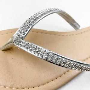 Image 3 - Neue 2020 Schuhe Frauen Schuhe Sommer Sandalen Perlen und Blumen Casual Schuhe Schnalle Strand Floral Sandalen Für Frauen Flip Flops