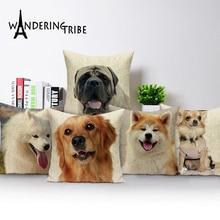 Dog Pillow Cover Decorative Pillowcases Boston Terrier Akita Shih Tzu Lovely Cushion Pug Throw Pillows